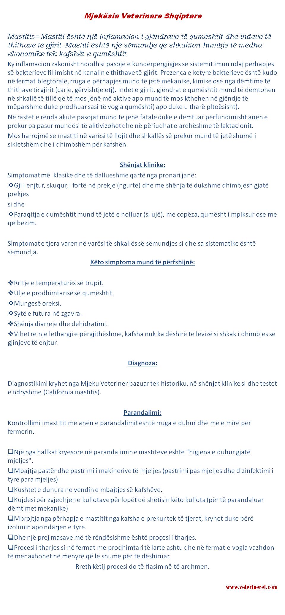 Mastitis-Mastiti tek kafshet blegtorale